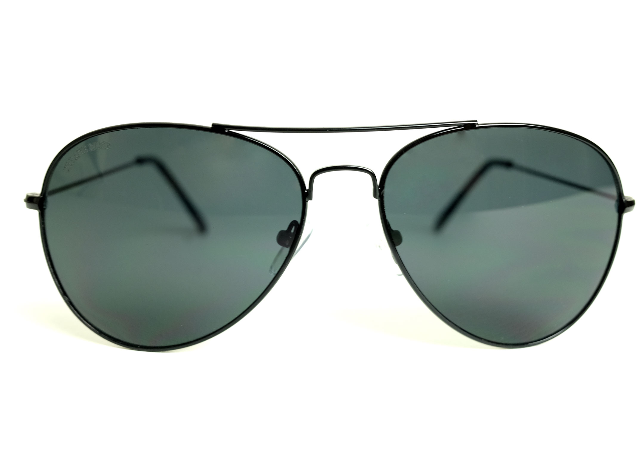 Black Metal Frame Aviator Sunglasses with Gray lens – URBANE MUSE ...