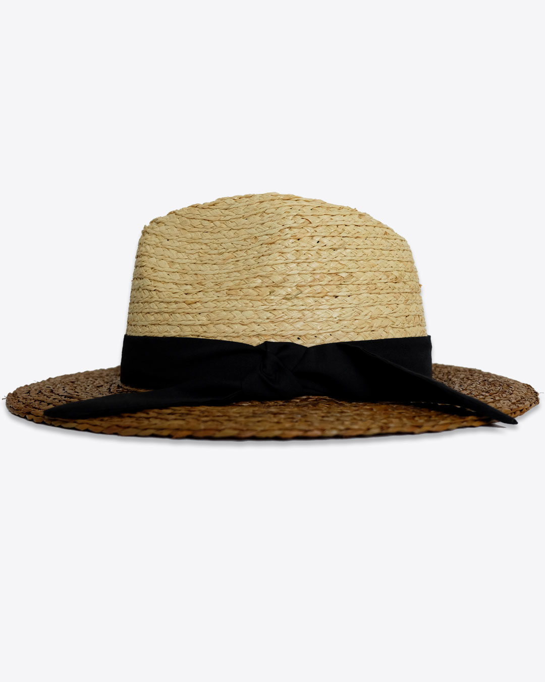 5ed23d98fe2ca Two-Tone Raffia Straw Fedora Hat – URBANE MUSE CHRIS SMITH™